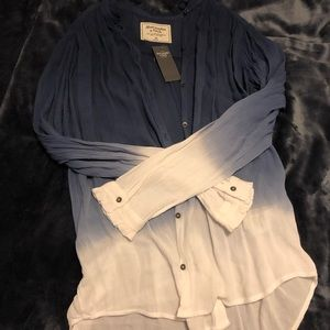 NWT Abercrombie & Fitch Ombré Button Up